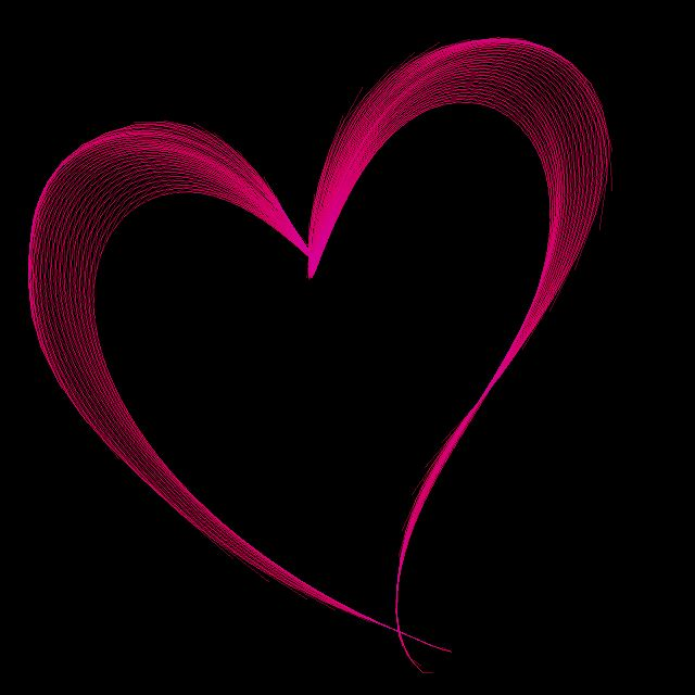 Nicely Designed Red Heart On A Black Background