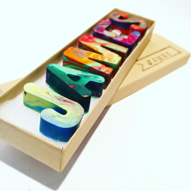 crayon letters explore now Name crayons in a gift box