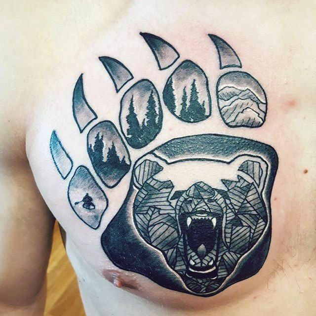 100 Bear Claw Tattoo Designs For Men Sharp Ink Ideas Claw Tattoo Bear Claw Tattoo Bear Paw Tattoos