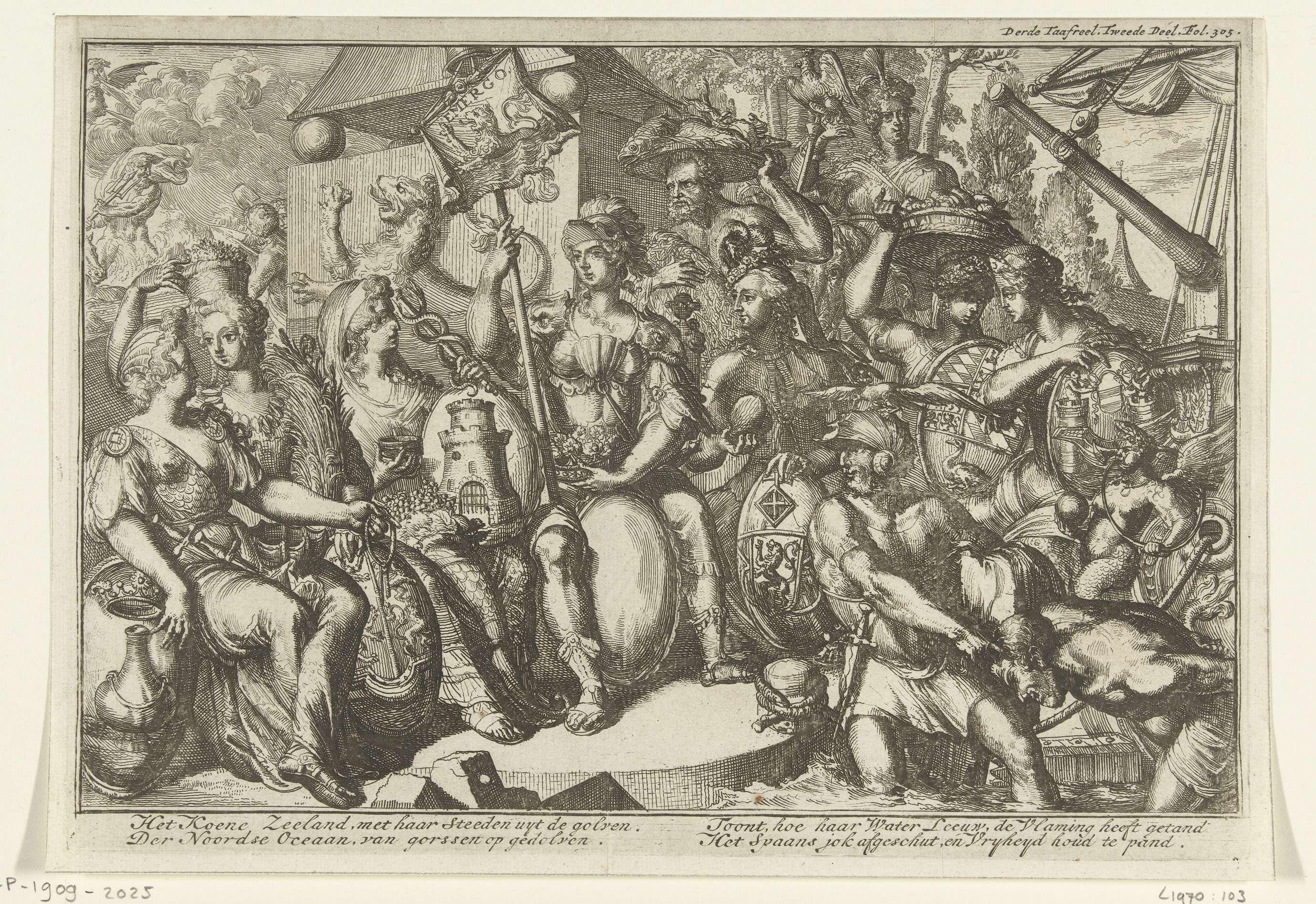 Romeyn de Hooghe | Allegorie met Zeeland, Romeyn de Hooghe, 1704 - 1706 |