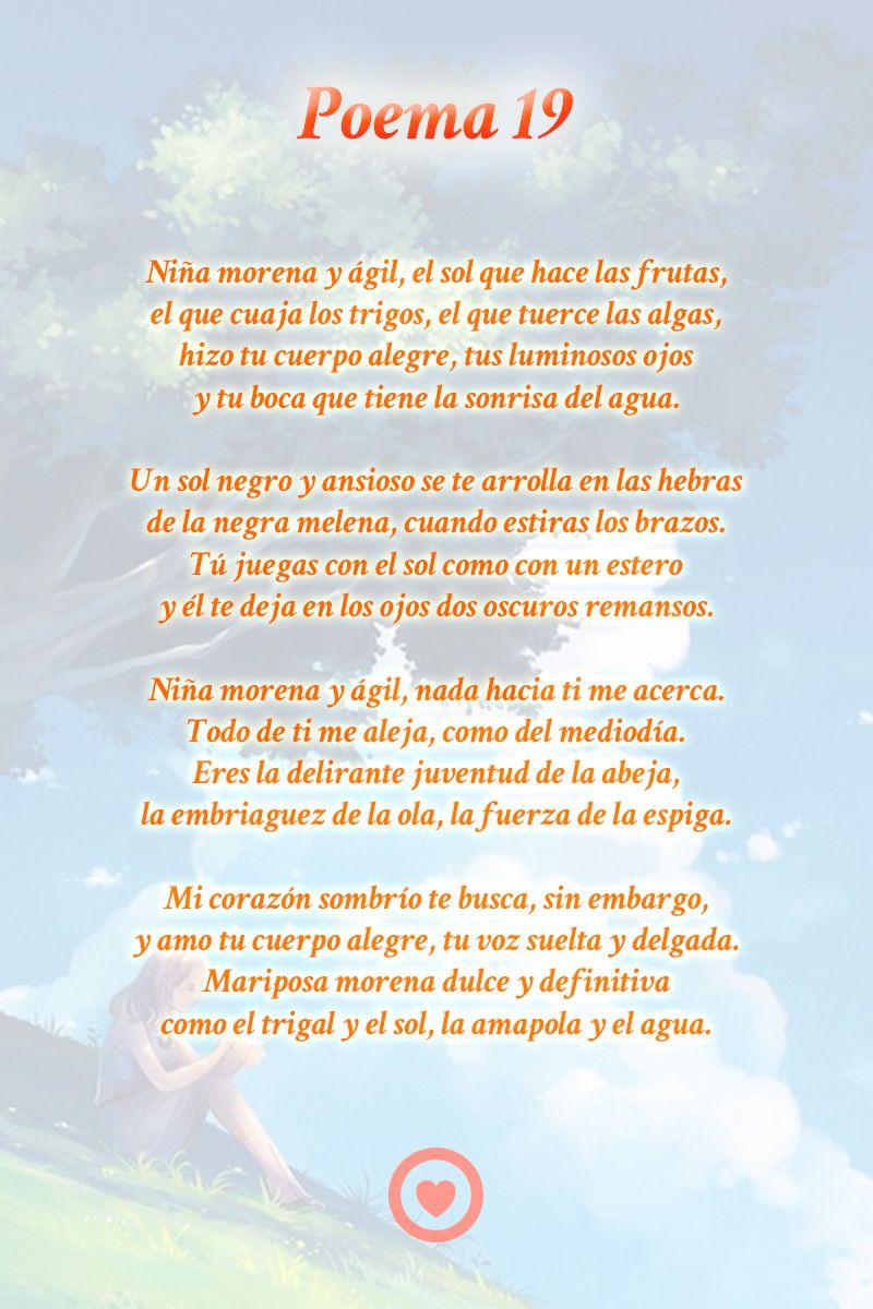 Poema 19 Pablo Neruda Poemas Frases Sobre Relaciones Aplastar Frases