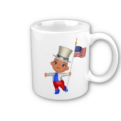 $15.15 Patriotic Boy with flag Coffee Mugs from Zazzle.com
