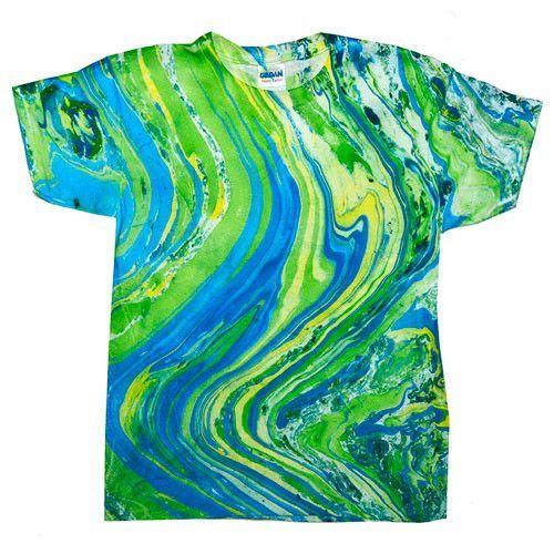 Marble Lime Tie Dye