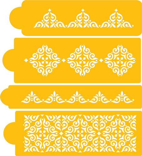 Mexican Tile Set Stencils I want these!!!!! | Siluets ...