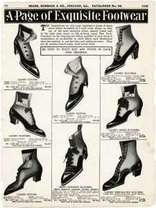 Free Vintage Image Catalogue Page Of Victorian Footwear Victorian Shoes Vintage Shoes Fashion