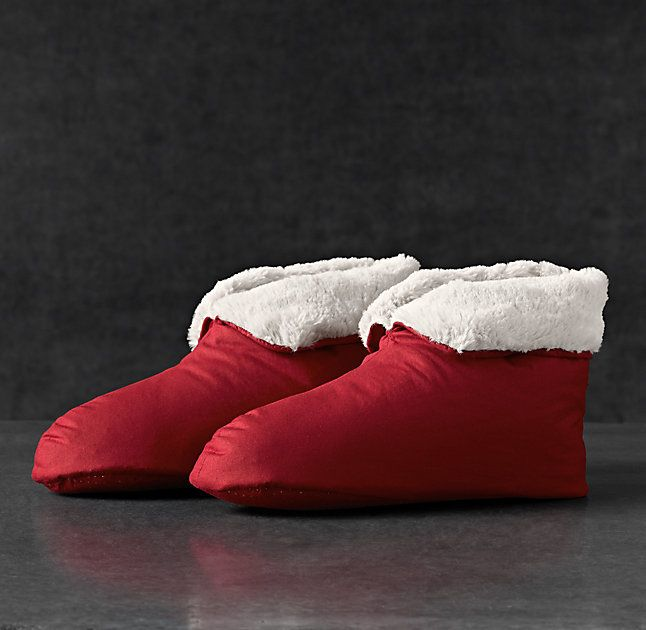 Ultimate Luxury Plush Foot Duvets Red Slippers Plush Duvet