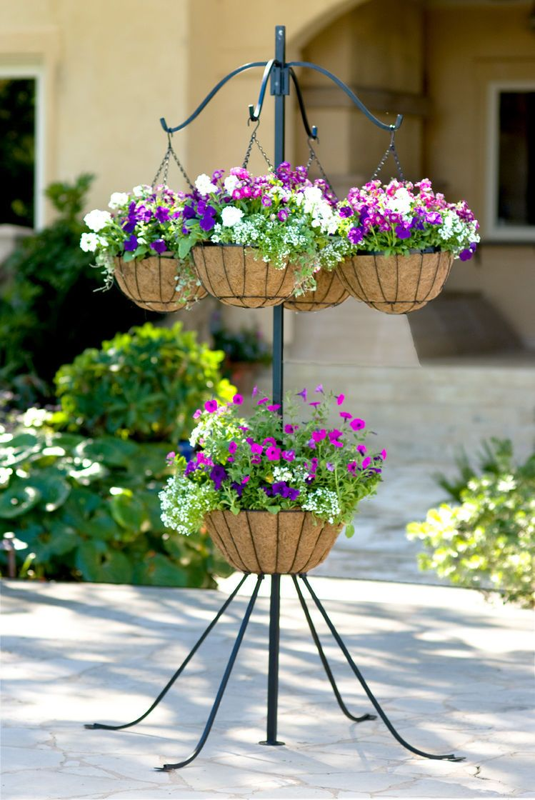 4arm plant hanger buy from gardeners supply hanging