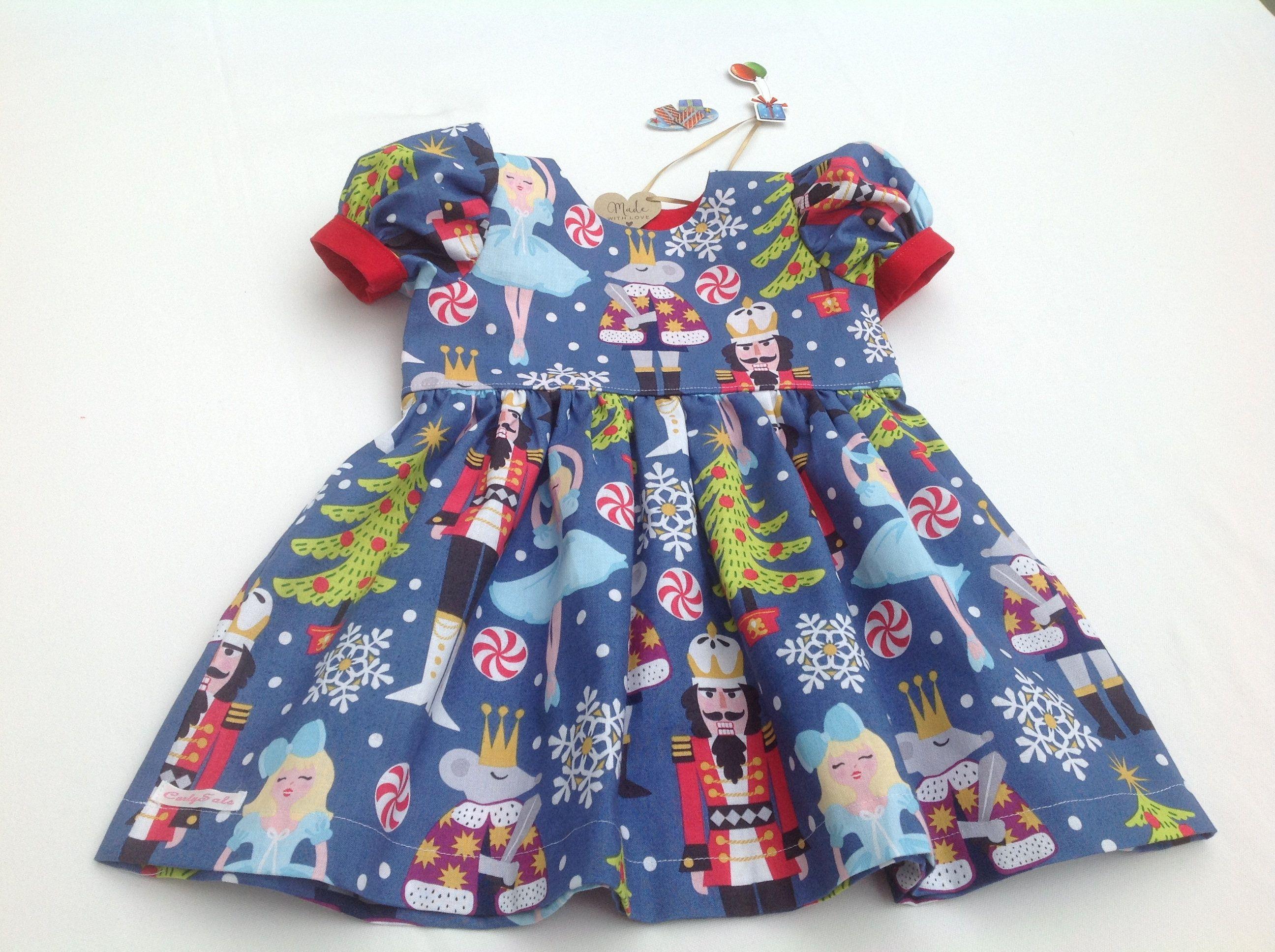 36545d22c Christmas Dress, Nutcracker dress, Puff Sleeves, Girls Dresses, Baby Girl  Dress, festive outfit, Puff Sleeve, Ballerina, Xmas Dress, by CurlySals on  Etsy