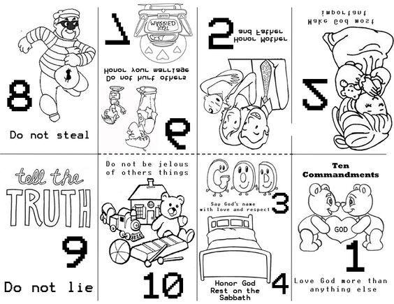 Free Images Coloring 10 Commandments Coloring Pages With Moses 10 Commandments Coloring Pages 5 Mystery Of Atividades Para Pre Escola Pre Escola Criancas