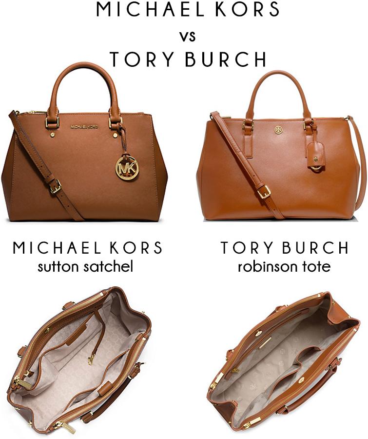 michael kors vs tory burch bag comparison accessories pinterest rh pinterest com