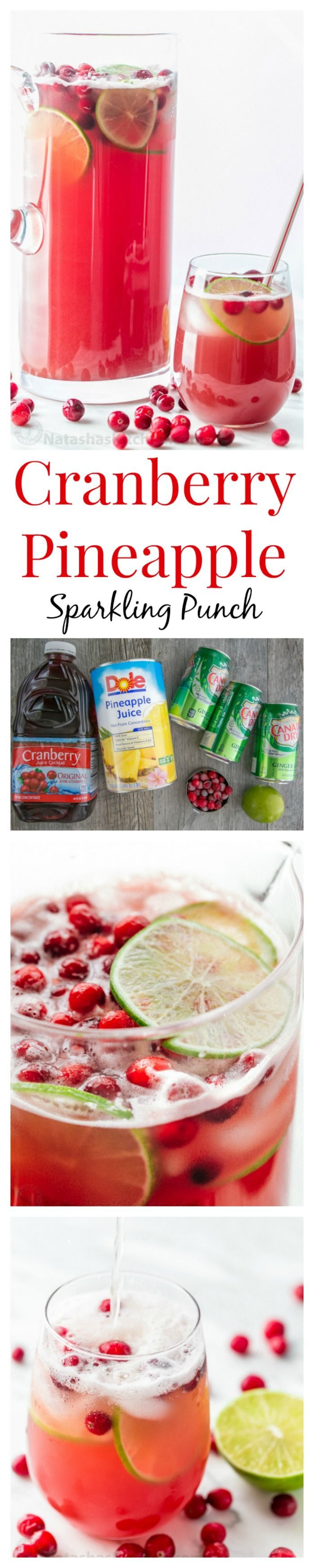 This Cranberry Pineapple Holiday Punch is crisp refreshing and loved by adults… #summersouthernfood