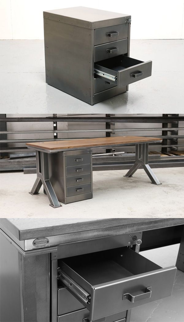 The workshop 4 drawer unit meubels muebles for Muebles industriales metal baratos
