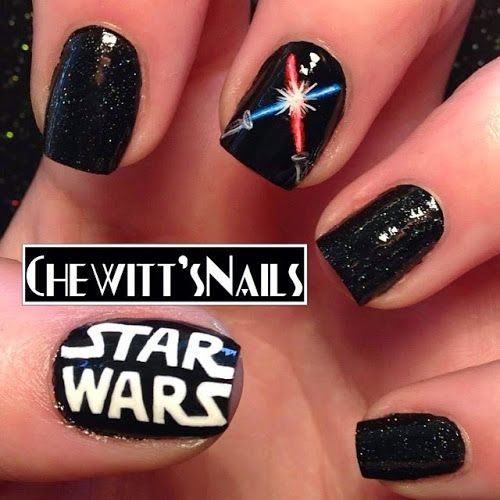 The Lighter Side Of The Force 24 Cute Star Wars Nail Designs 20