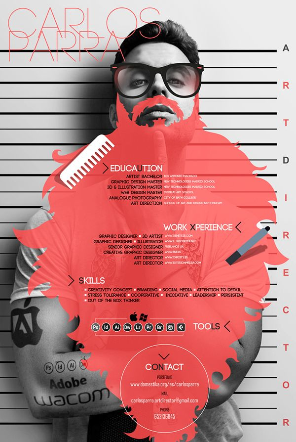 Art Director Curriculum Vitae on Behance resume Pinterest - advertising graphic designer resume