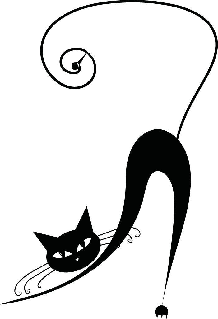 Рисунки черных смешных кошек