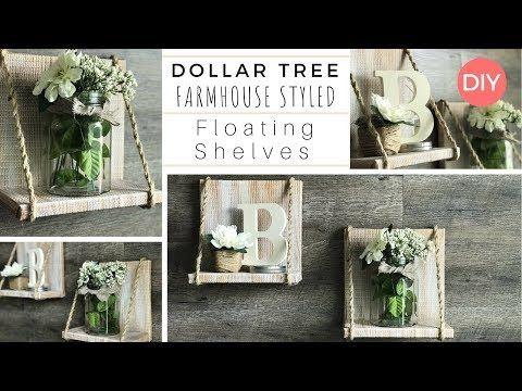 Floating Shelves Diy Dollar Tree Diy Farmhouse Style