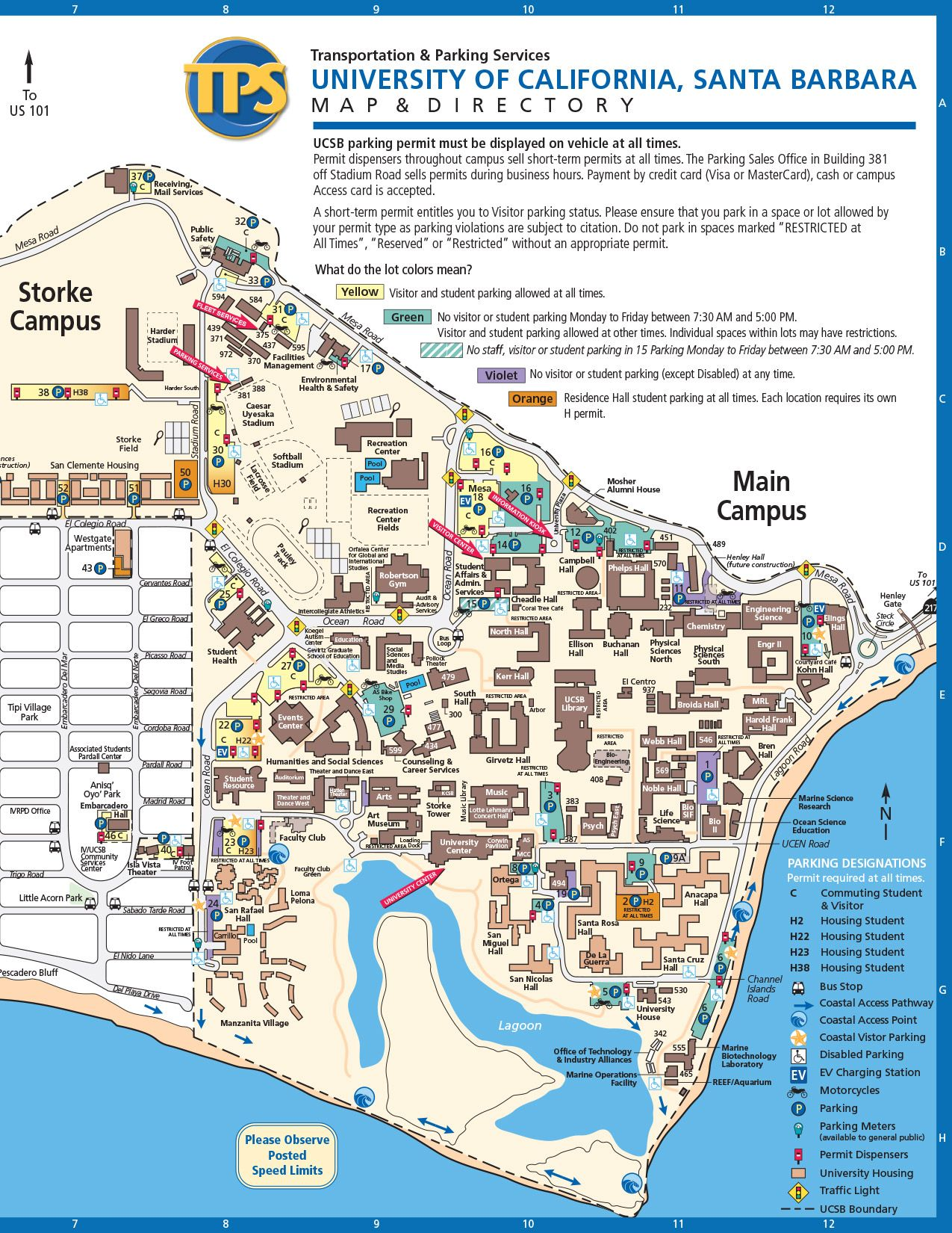 Holy Family Campus Map.Ucsb Campus Map Cadeaux A Faire Soi Meme Campus Map Map Master