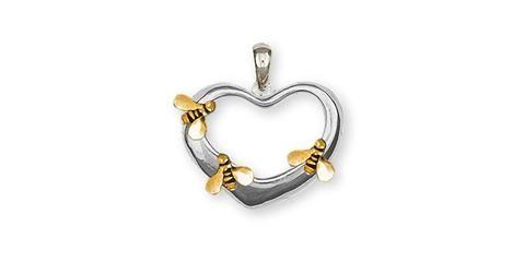 Bonyak Jewelry 10k 5Mm Heart Belly Dangle in 10k Yellow Gold