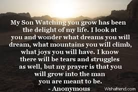 Image result for quotes from mom to son