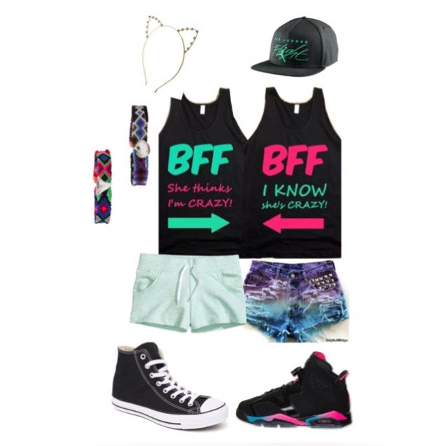 Bff outfit I made with one of my friends