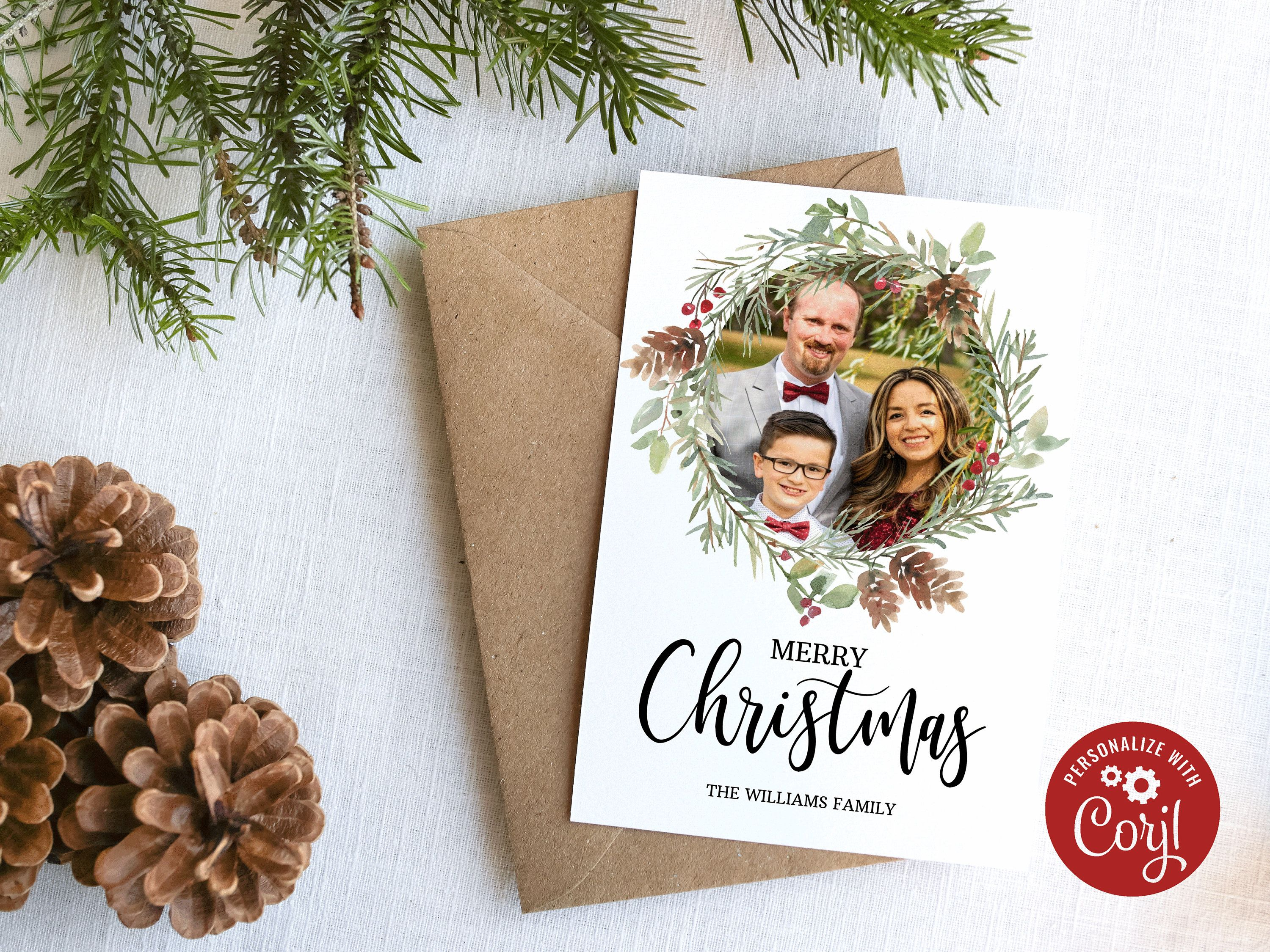 Christmas Card Template Christmas Photo Cards Photo Etsy In 2021 Christmas Card Template Christmas Photo Cards Christmas Photo Card Template