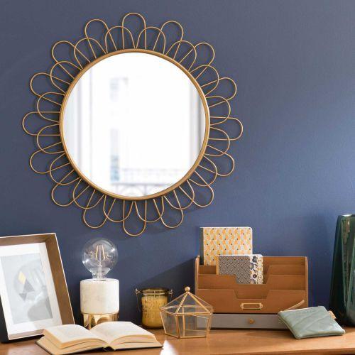 Runde Spiegel runder spiegel aus metall d 60 cm maisondumonde