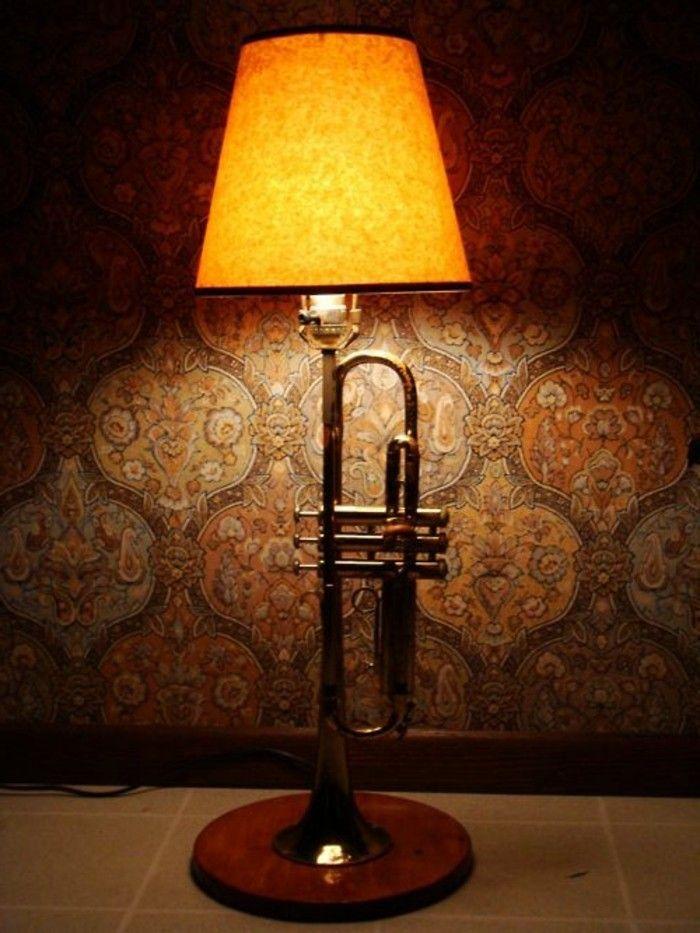 Diy lampe 76 super coole bastelideen dazu trompete - Coole stehlampen ...