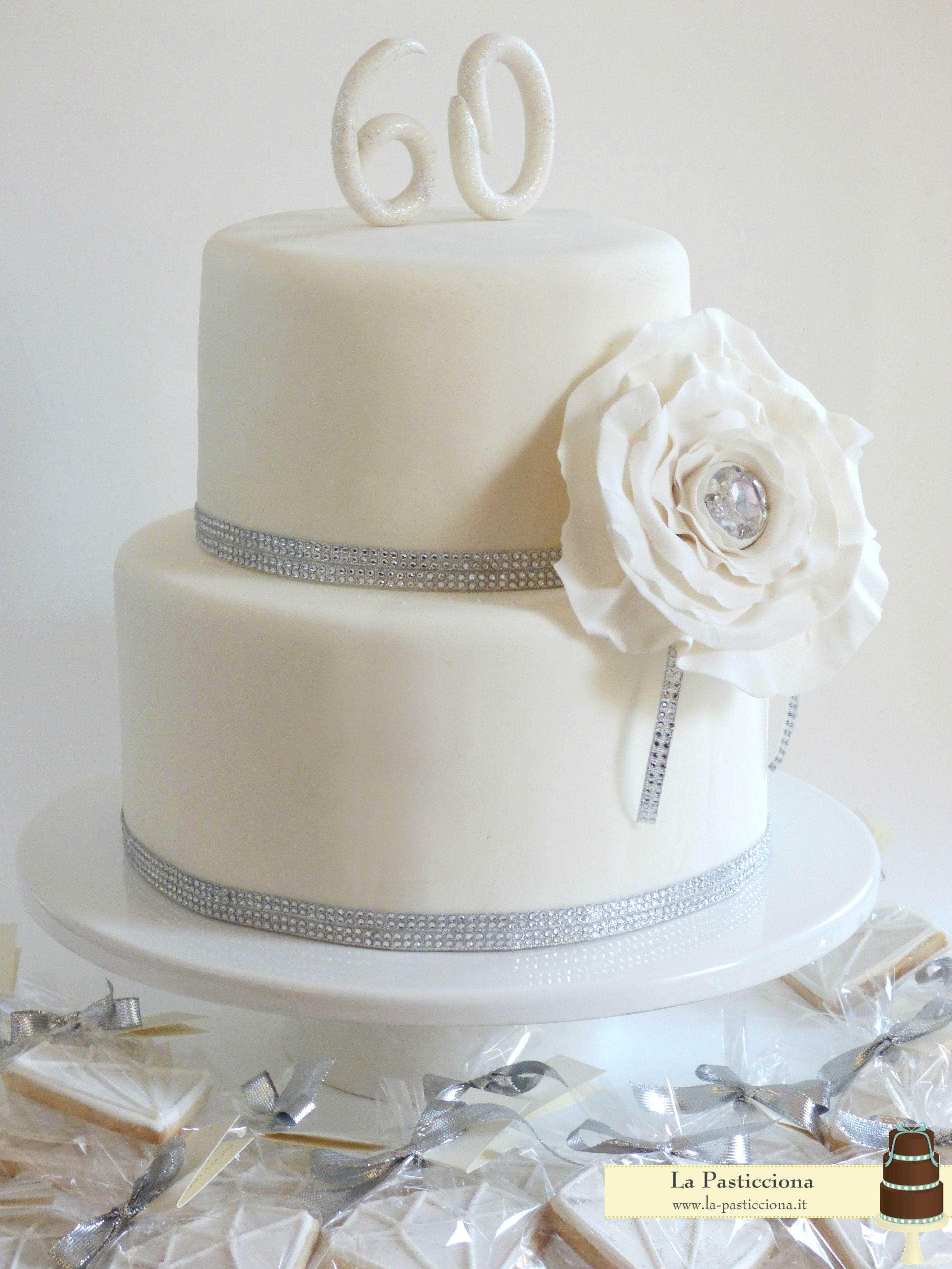 Anniversario 60 Anni Matrimonio.Torta Per Il 60 Anniversario Nozze Di Diamante 60