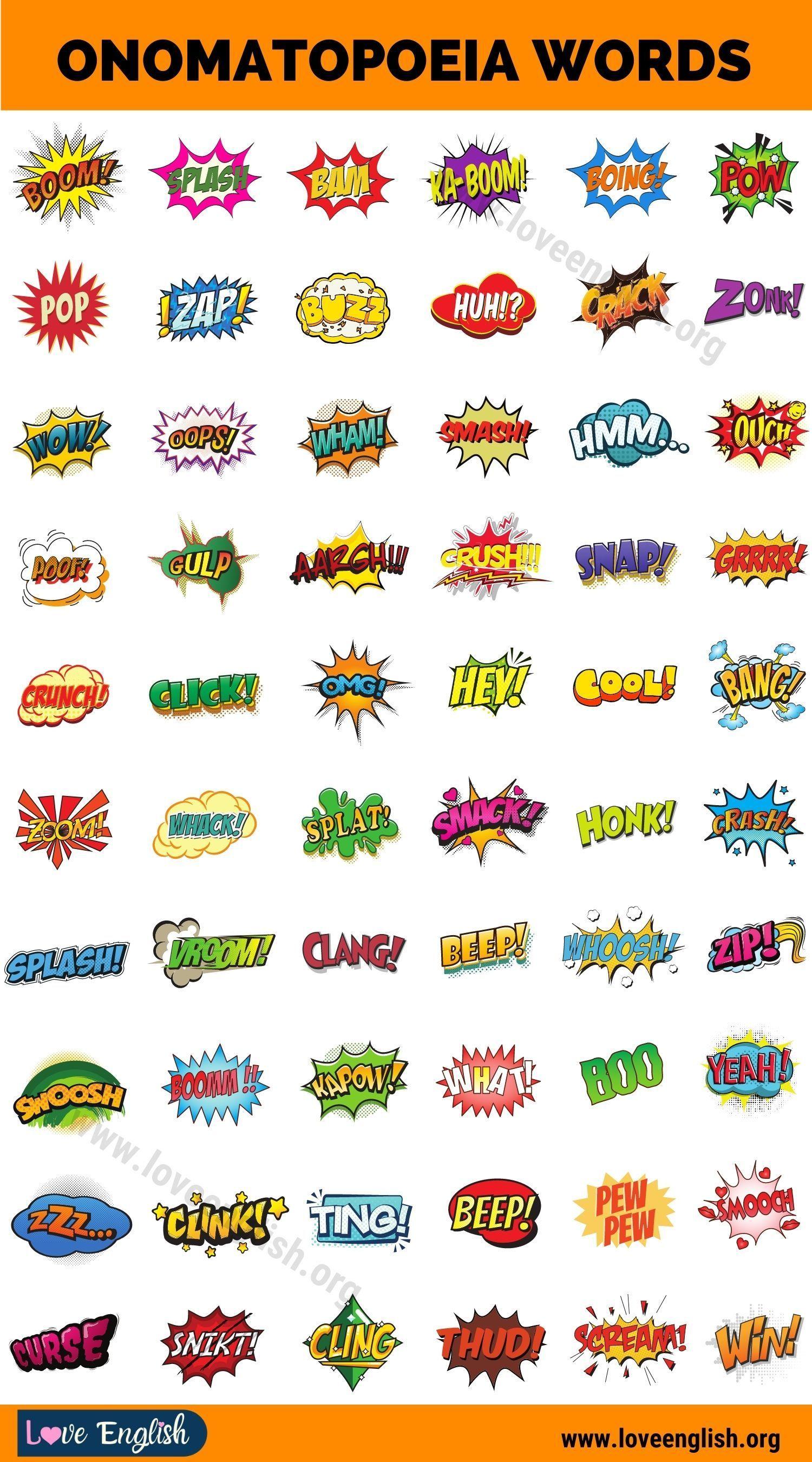 Onomatopoeia Wonderful List Of 120 Words That Describe