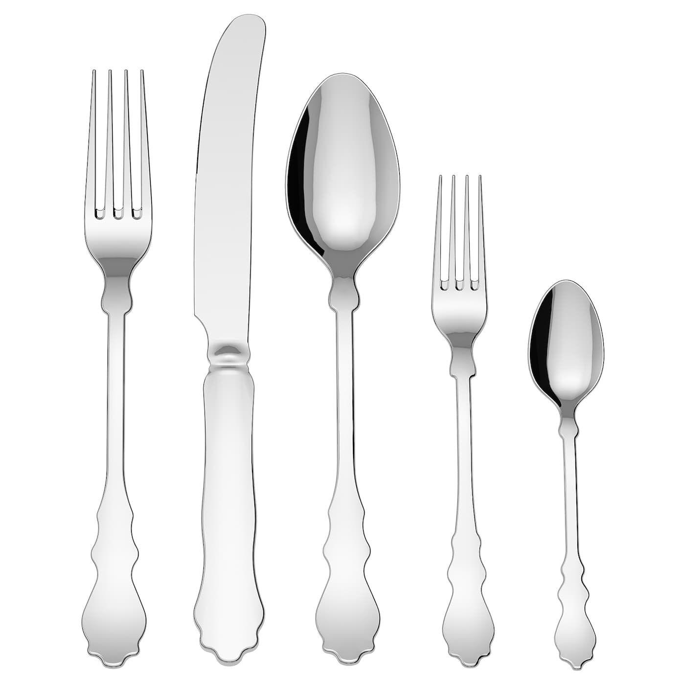 Flatware Knives Cutlery Bruntmor 20 Piece Silverware Stainless Steel Flatware Cutlery Set Service For 4 Home Garden Gefradis Fr