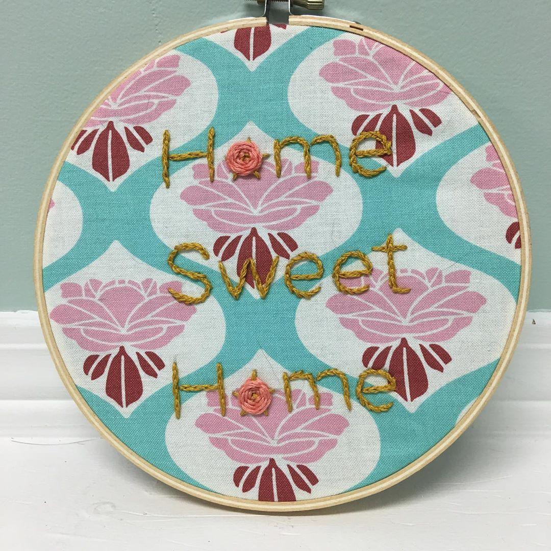 Home Sweet Home. #embroidery #embroideryart #embroiderydesign #embroidered #fibreart #fibreartist #fibrearts #fiberart #fiberartist #fiberarts #craft #crafting #crafts #cutelesbians #lesbian #bisexual #pansexual #lgbtq #lgbtqpride #lgbtqia #vintage #vintagestyle #retro #retrostyle