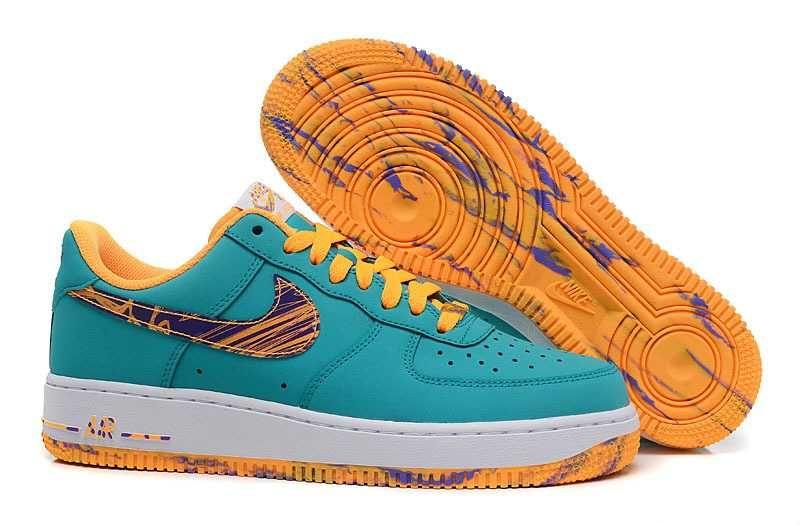 sports shoes 5c39e 66d4f 1830   Nike Air Force One Low Herr Atomic Grön Mango SE258151SNUROi