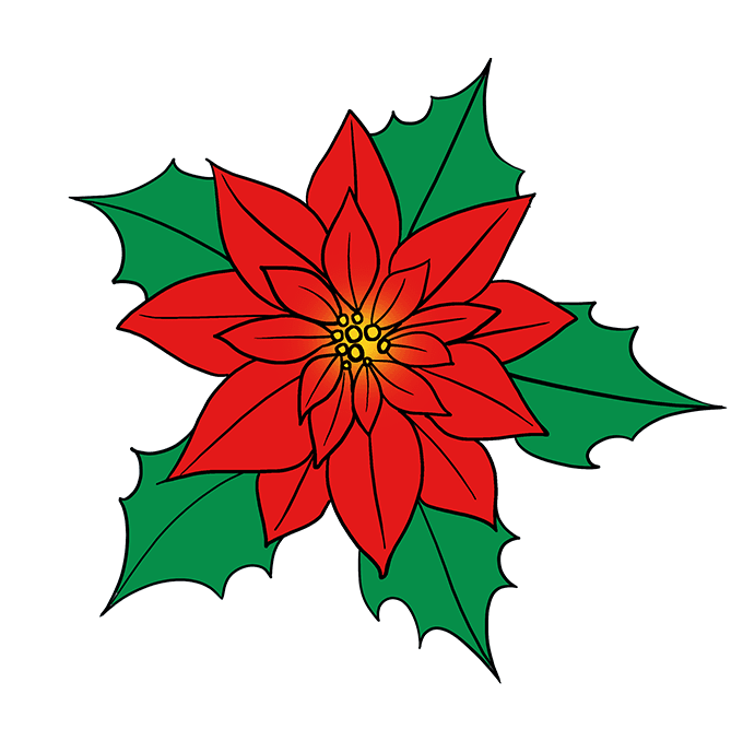 How To Draw A Poinsettia Really Easy Drawing Tutorial Christmas Paintings Flower Art Painting Flower Drawing