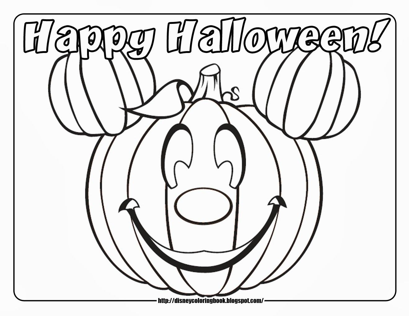 Happy Halloween Mickey Mouse Pumpkin Printing Tip I