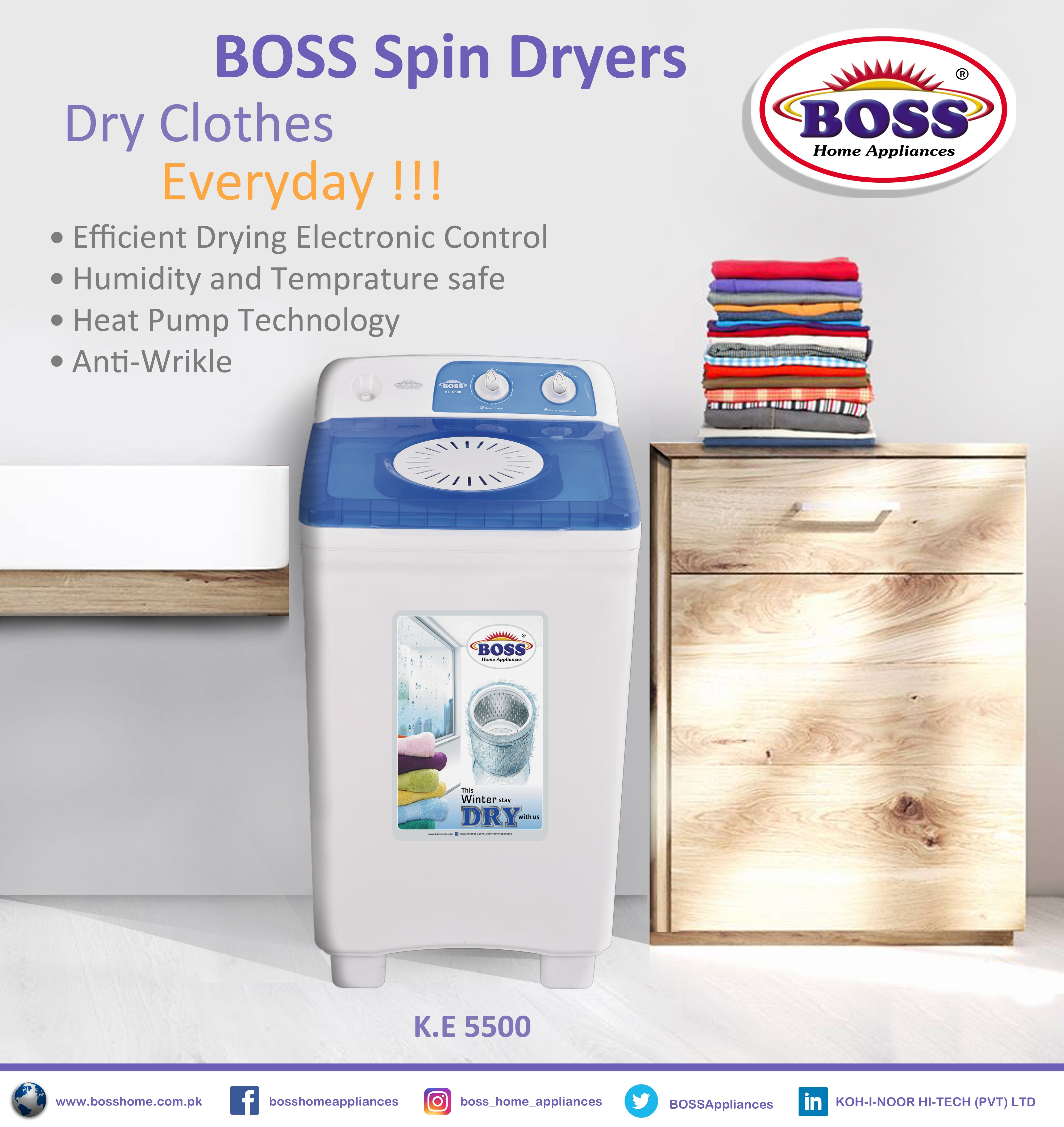 Pin By Boss Home Appliances On Products Spin Dryers Heat Pump Humidity