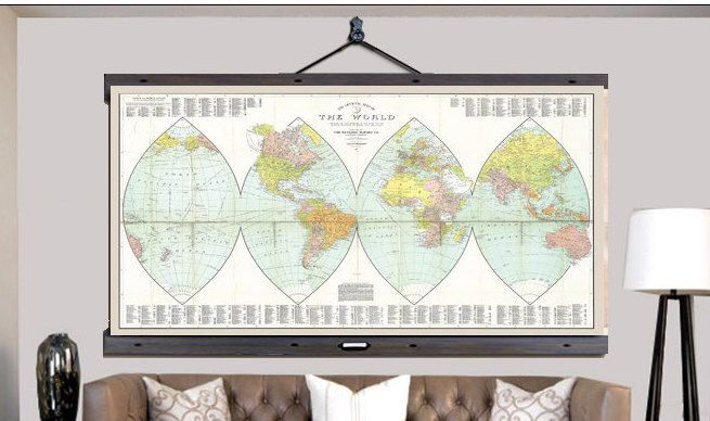 Pull down map world map on canvas 1926 60w x 40h school chart pull down map world map on canvas 1926 60w x 40h gumiabroncs Images