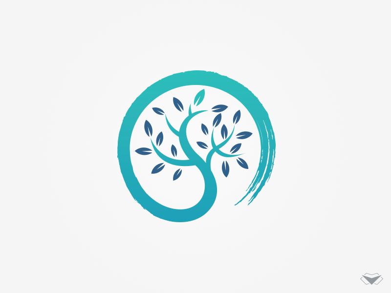 Zen Tree Logo Tree Logos Japan Logo Tree Logo Design