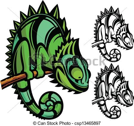Vector Chameleon Cartoon Character Stock Illustration Royalty Free Illustrations Stock Clip Art Ico Chameleon Chameleon Art Illustration Character Design