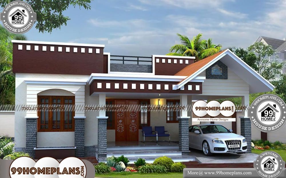 Simple One Story House Designs 90 South Indian House Design Plans In 2020 Indian Home Design Small House Front Design Story House