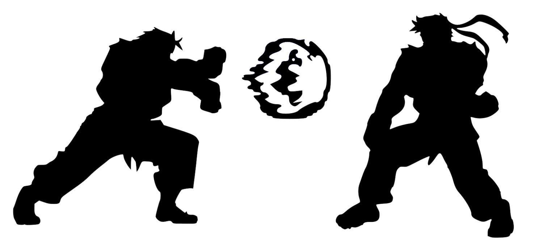 Street fighter ken ryu vinyl decal videogameparty