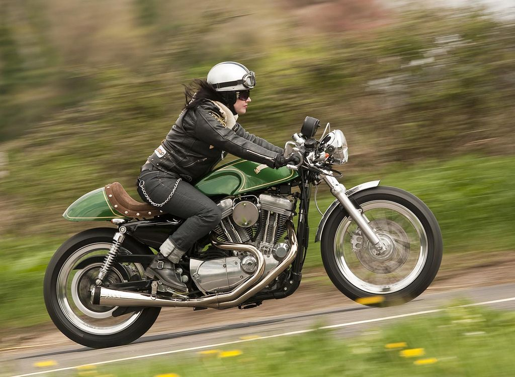 Girls and motorcycles - Triumph Scrambler