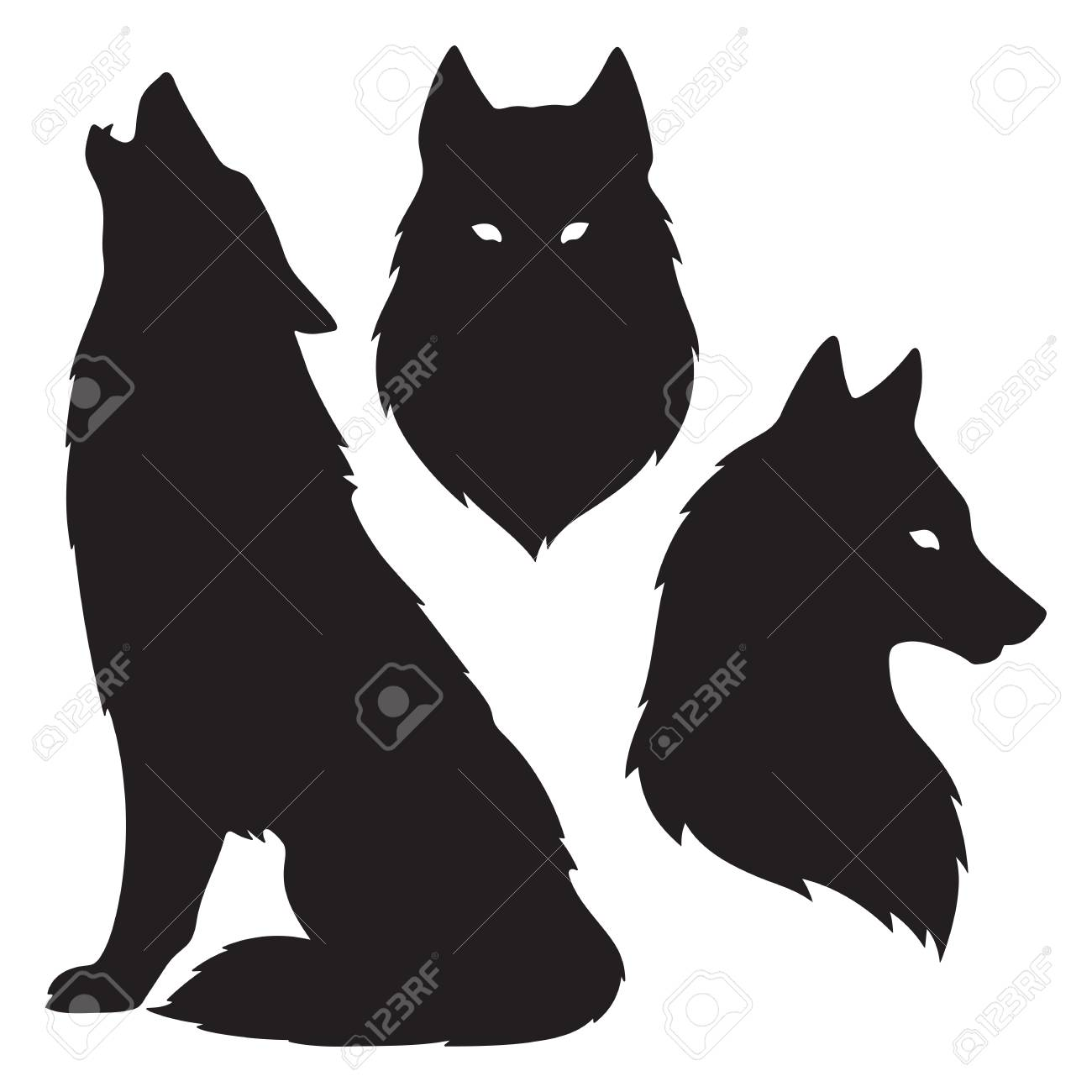 Wolf Silhouette Tattoo Google Search Wolf Silhouette Wolf Painting Wolf Stencil