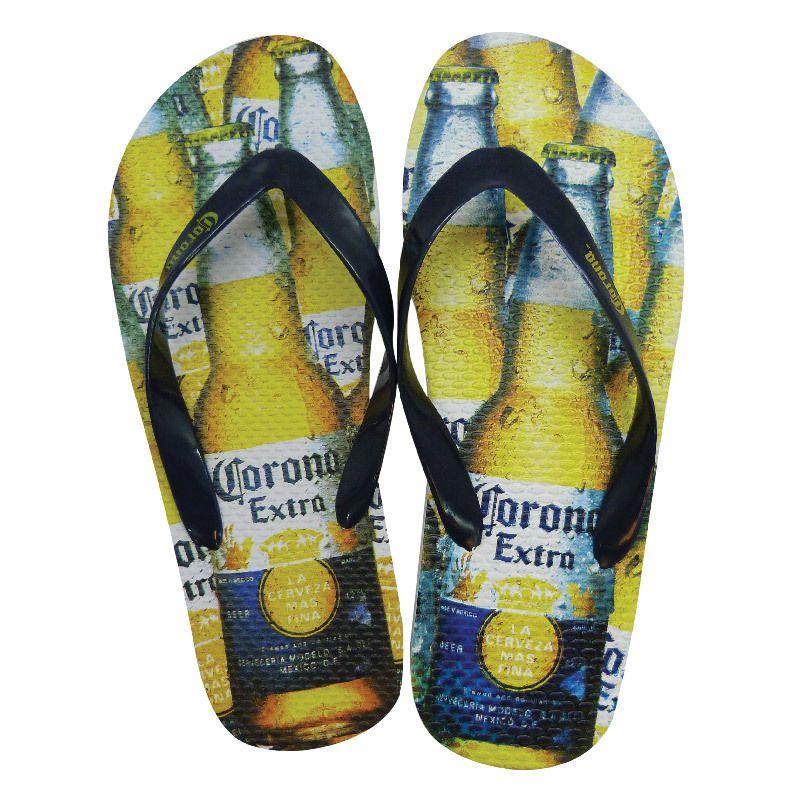 259027d05 Corona Extra Logo Beer Bottle Print Men s Sandals Flip Flops - Small (7-8)