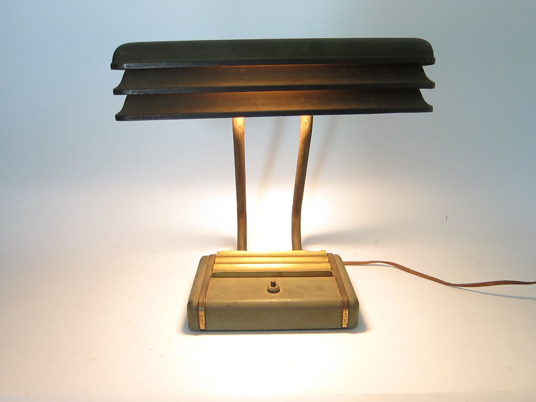 desks pin louvered art office lamps desk lamp and deco