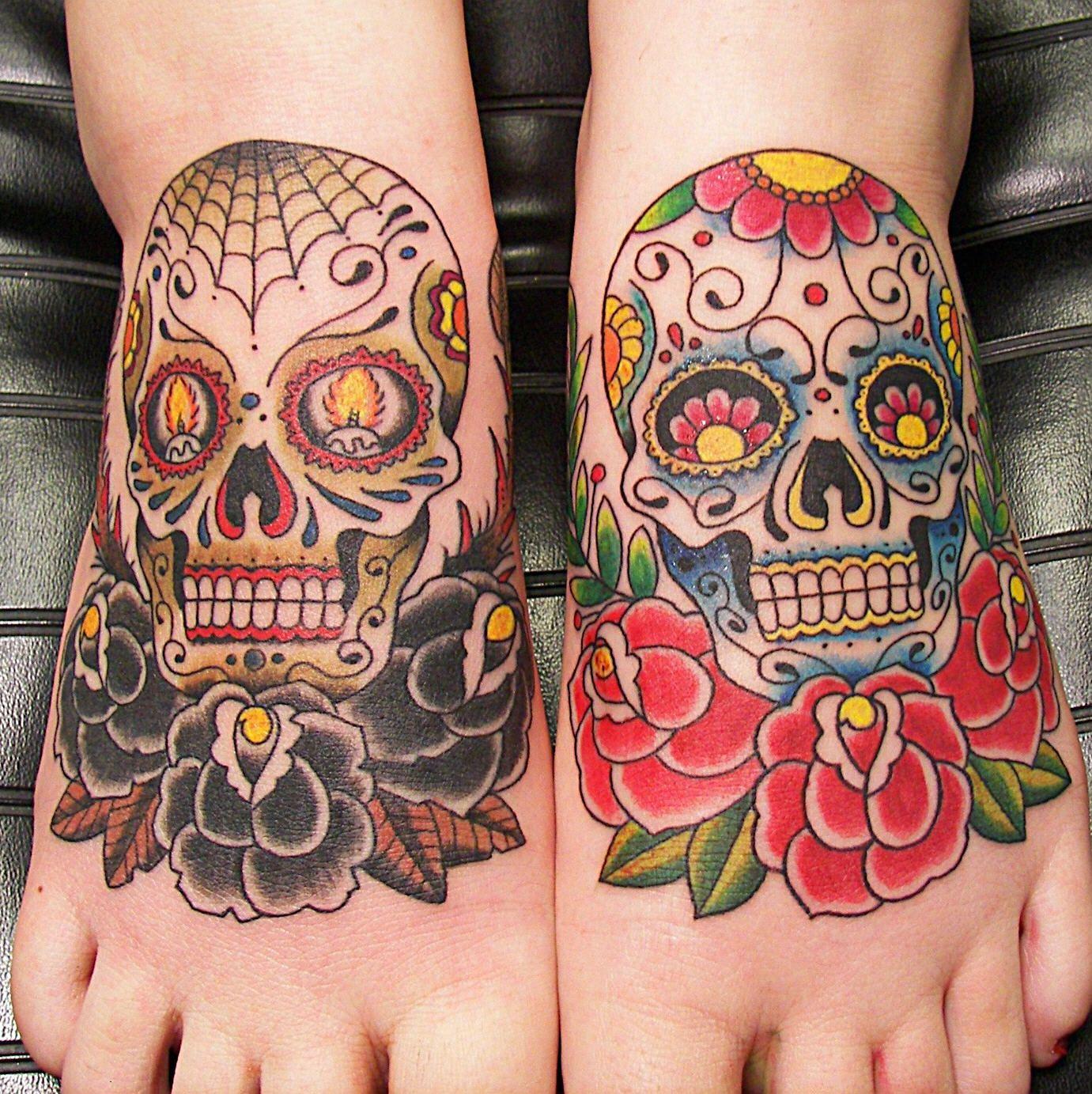 Sweet Sugar Skulls Candy Skull Tattoo Day Of The Dead Skull Tattoo Mexican Skull Tattoos