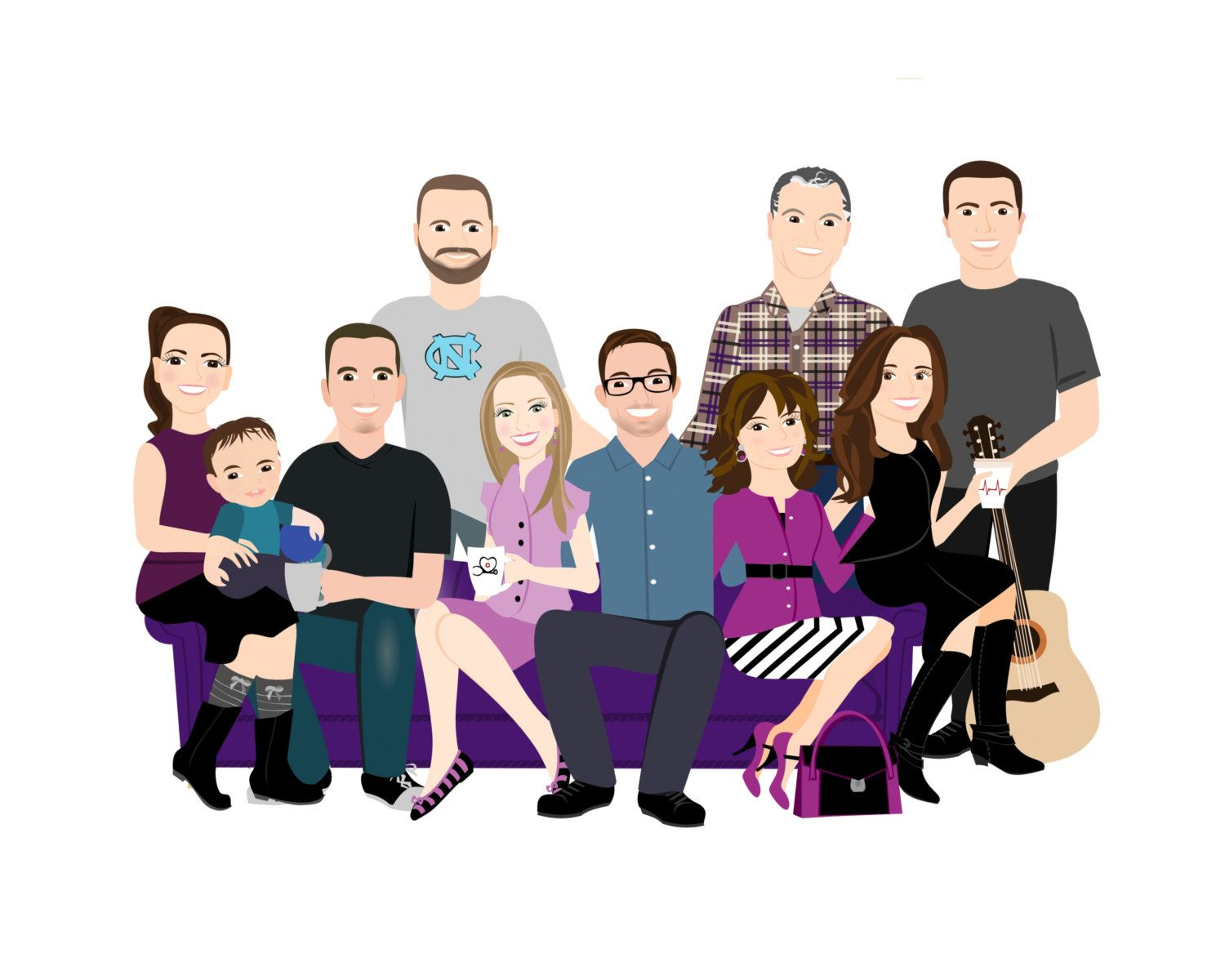 Large Family Portrait Or Company Staff Portaits By Shysocialites