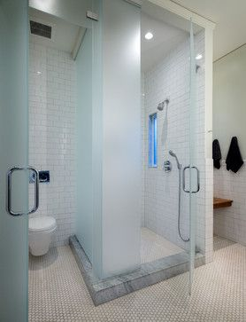 Updated Edwardian Contemporary Bathroom San Francisco Sutro - Bathroom partitions san francisco