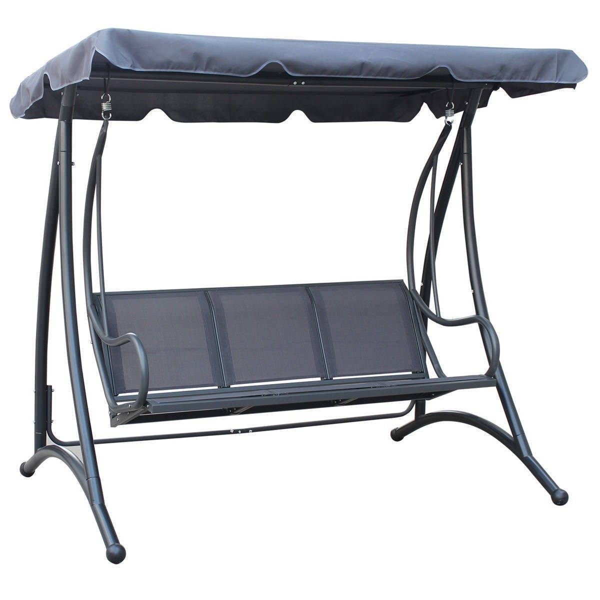 Garden Swing Bench With Canopy Shade Garden Swing Seat 3 Seater