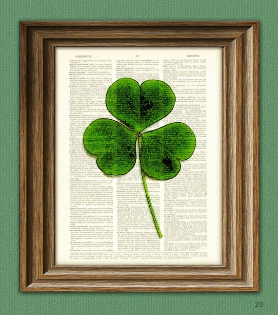 Image result for picture of a shamrock on a book