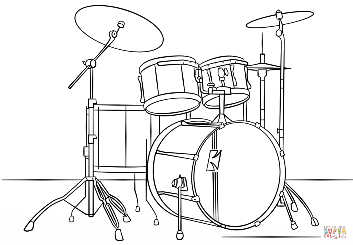 drum kit coloring coloring pages coloring